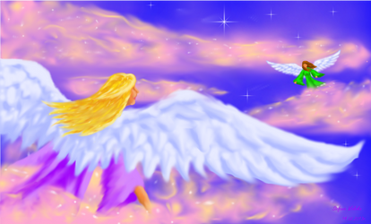 Angels and clouds by Sztefa001