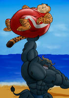 Bogo and Clawhauser workout by MAUWORLD274