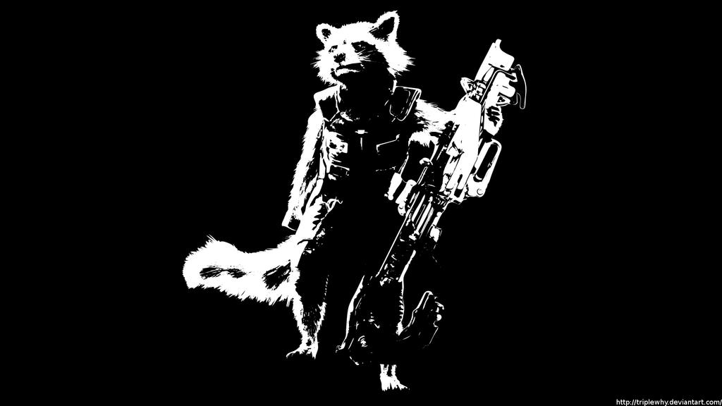 WS14 Rocket Raccoon Wallpaper Edit By TripleWhy