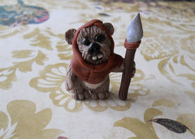 Ewok sculpture by rude-and-reckless