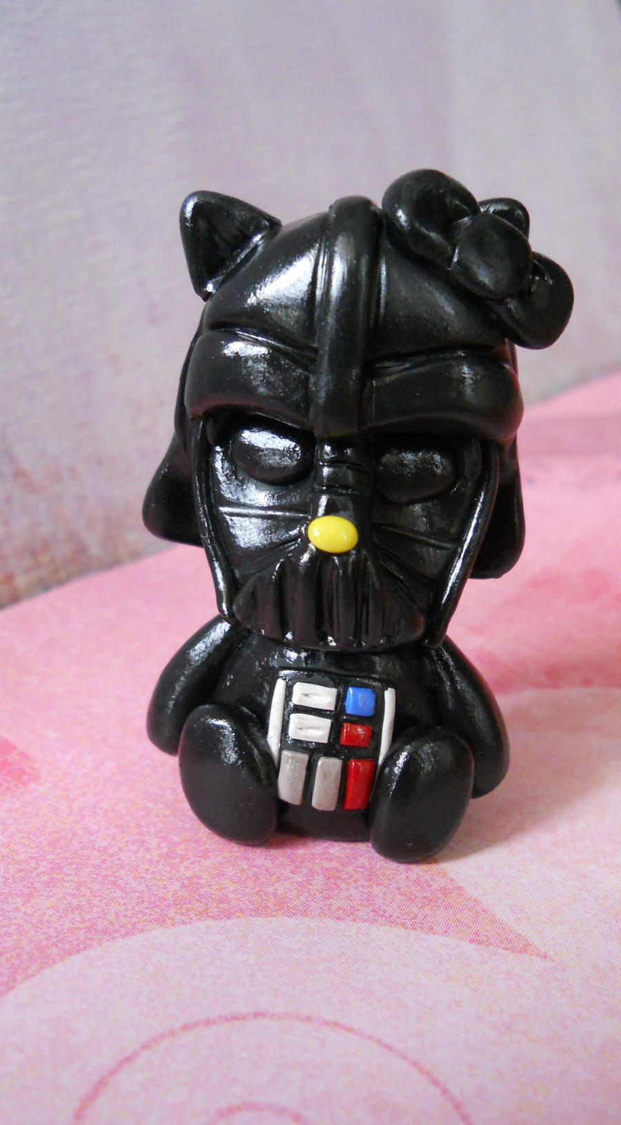 Darth vader hello kitty sculpture by rude and reckless on - Dark vador hello kitty ...
