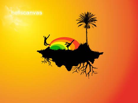 Sunny funny island