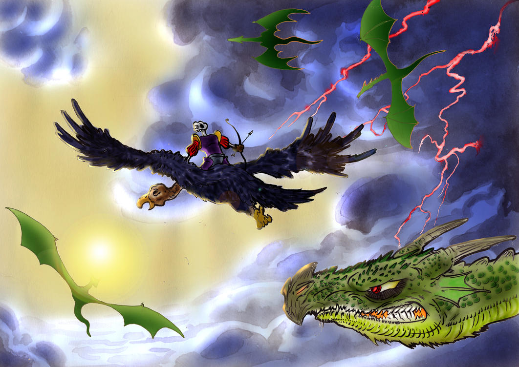 Medievil: air battle by Tentpen on deviantART