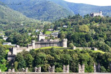 Bellinzona #2 - Three-castel city by Scrutatrice