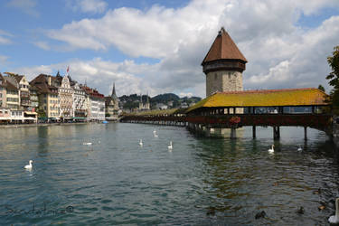 Luzern #1 - Wood bridge by Scrutatrice