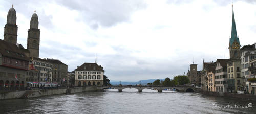 Zurich #1 - Two  banks by Scrutatrice