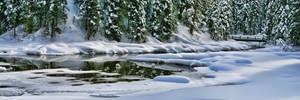 Winter Reflection Panorama