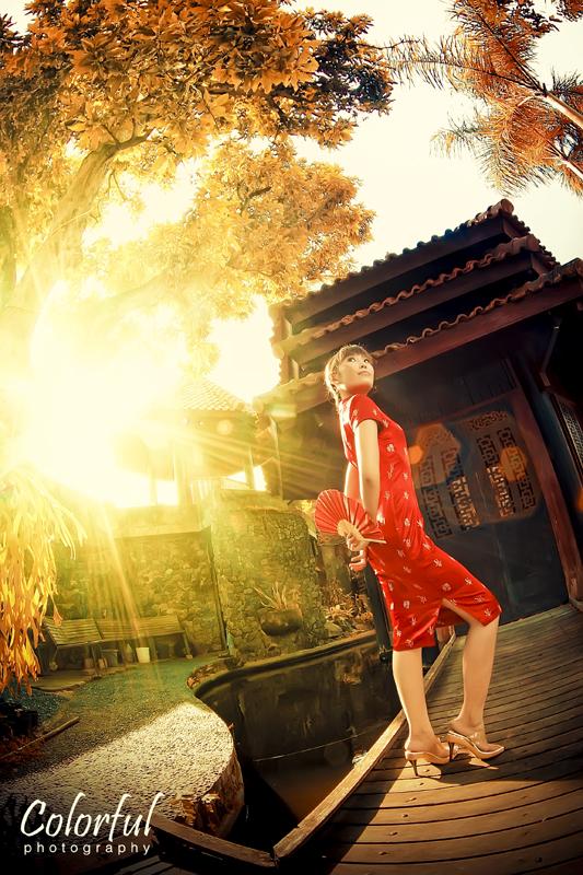 red chinese girl by dantoadityo