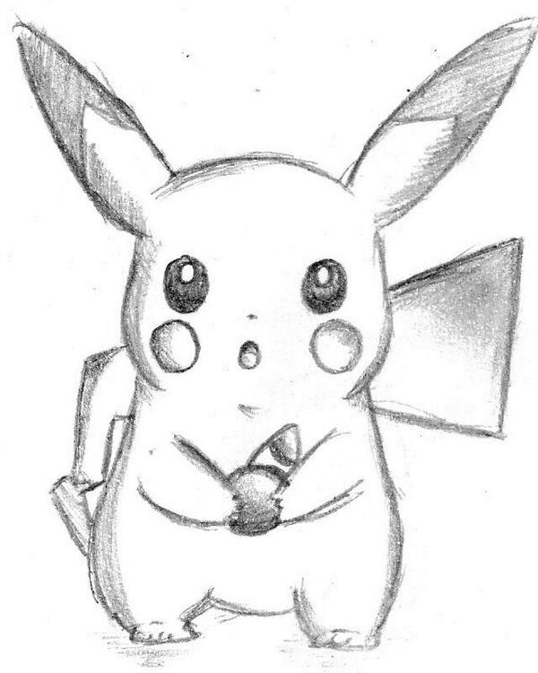 Pencil Art / Cute Pikachu by FlexoCZE on DeviantArt