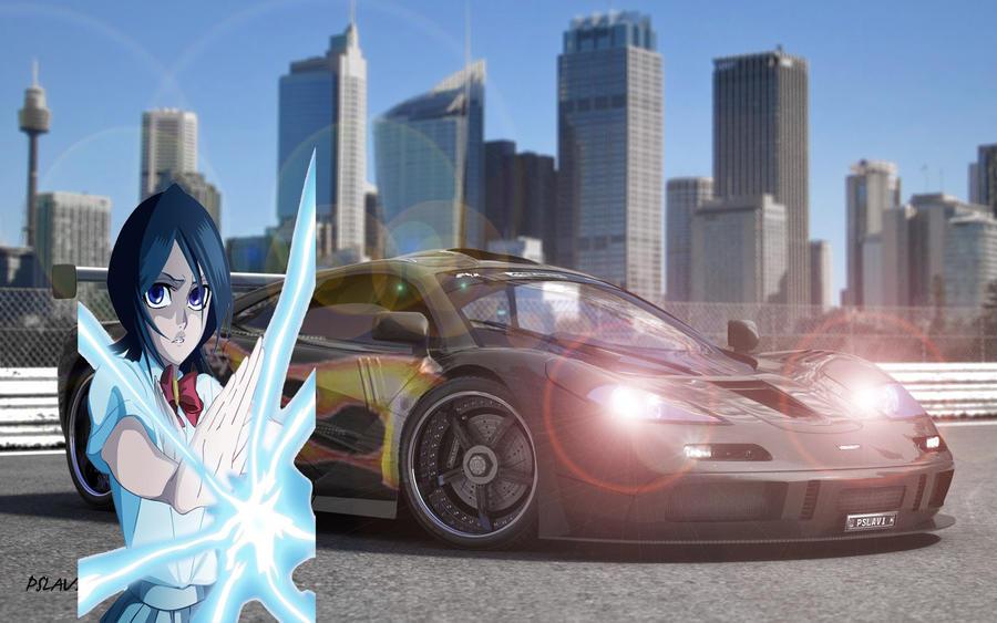 Rukia and her McLaren F1 LM by alerkina2