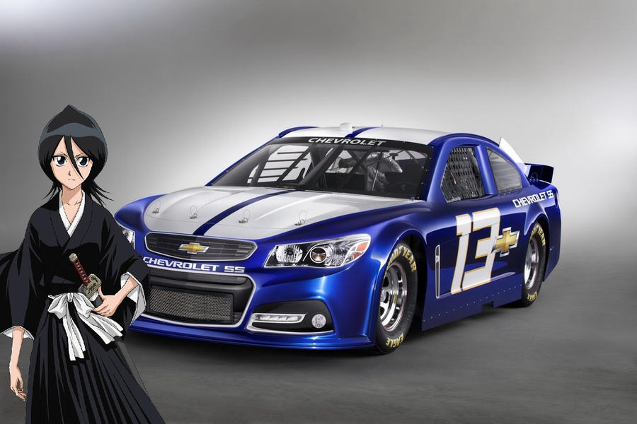Rukia and her 2013 Chevrolet SS NASCAR Race Car by alerkina2