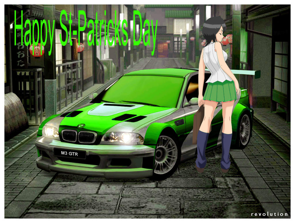 Rukia and her BMW St Patricks Day Car by alerkina2