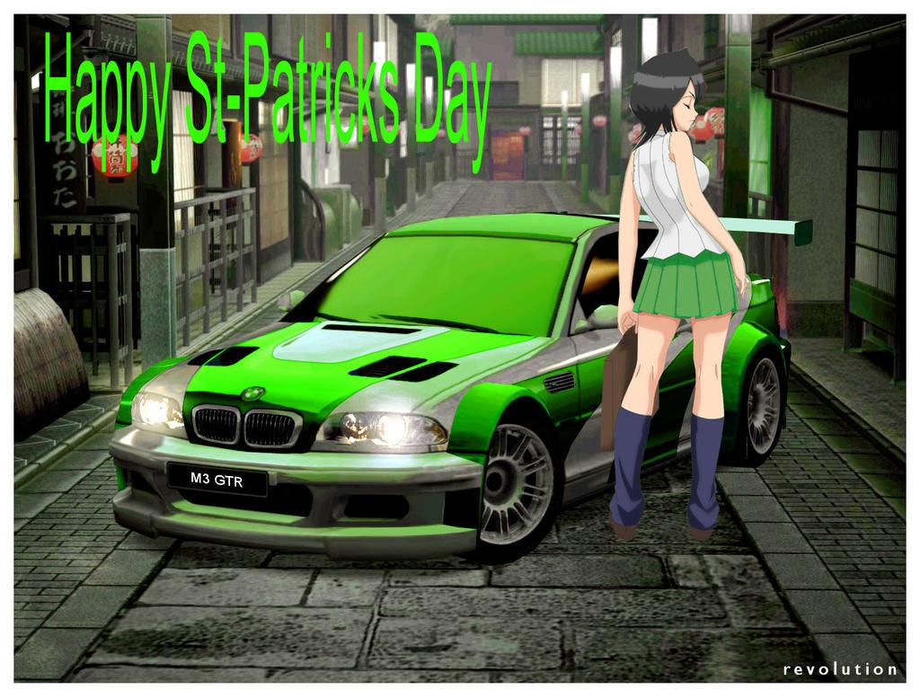Rukia and her BMW St Patricks Day Car by alerkina2