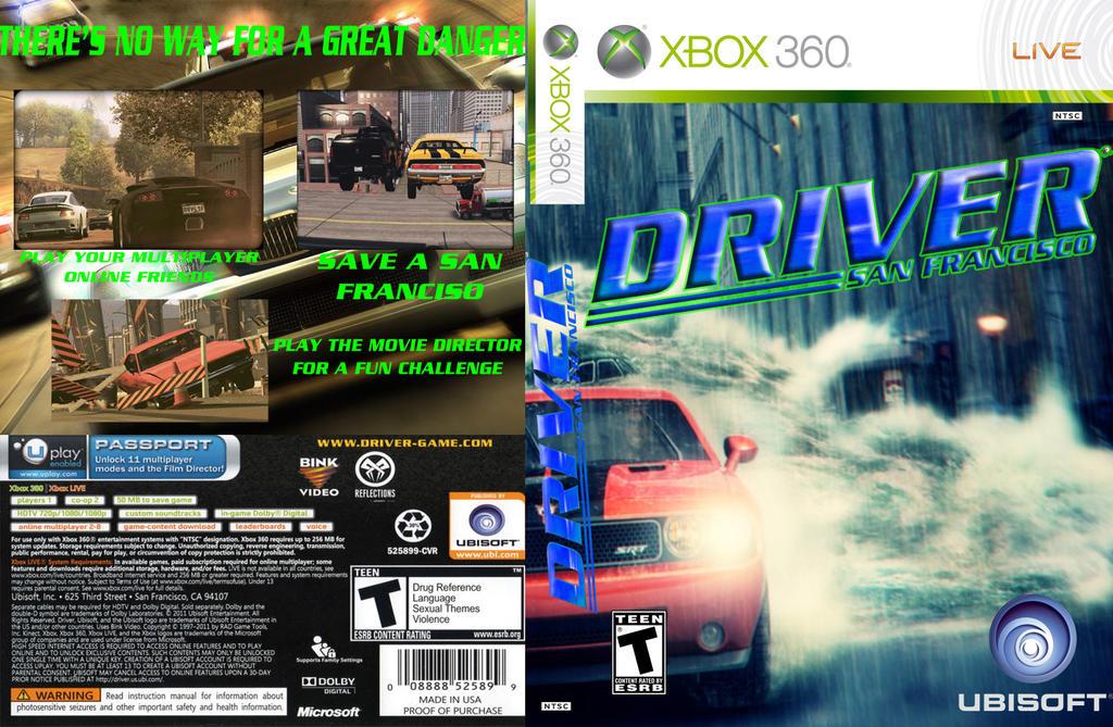 Driver San Francisco Xbox 360 Cover By Alerkina2 On Deviantart