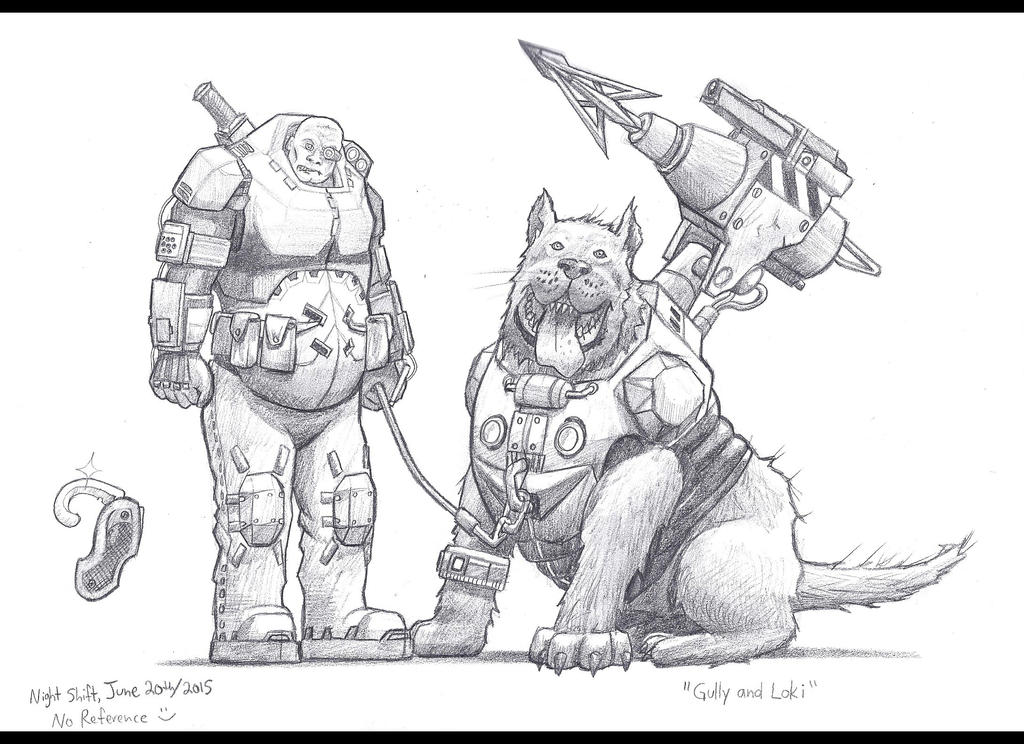 Gully and Loki by Skihaas1