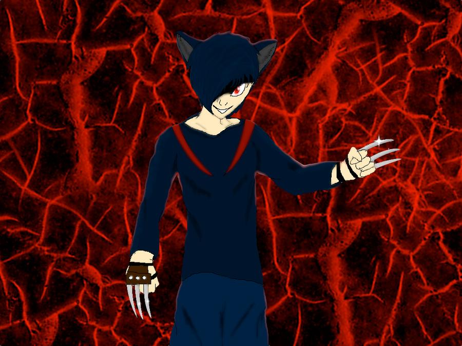 Shadowclaw in human form by ShadowClawZ