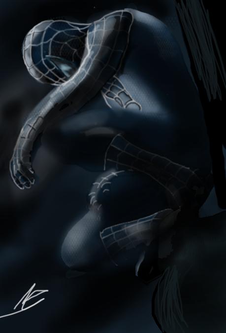 Black spiderman by ShadowClawZ