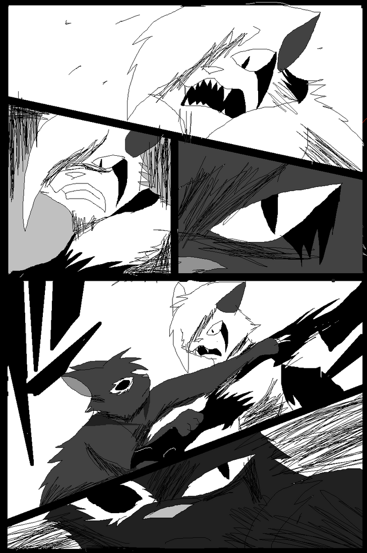Shadow claw vs Shadow frost finale manga page 7 by ShadowClawZ