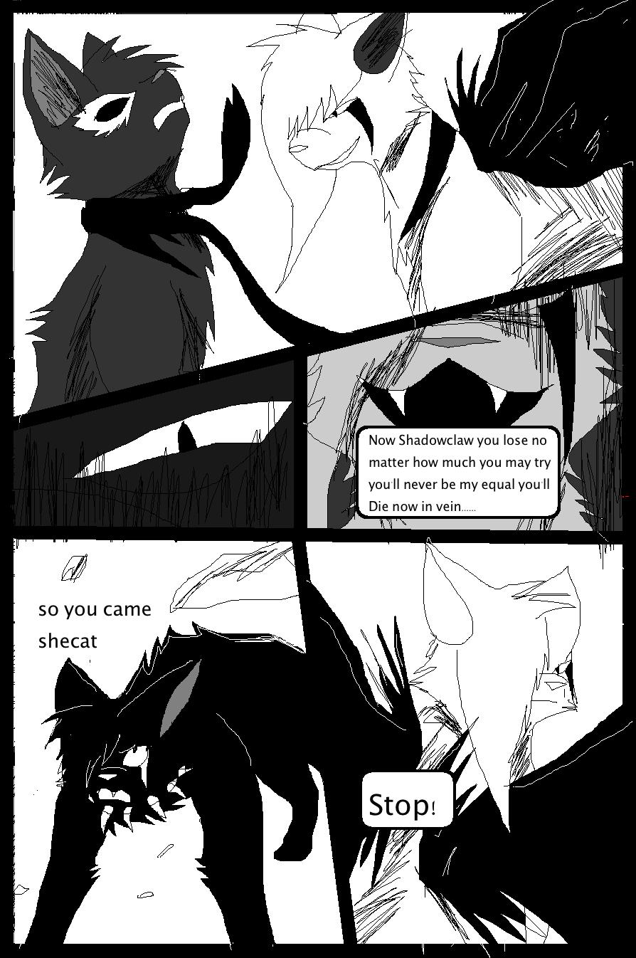 Shadow claw vs Shadow frost finale manga page 14 by ShadowClawZ