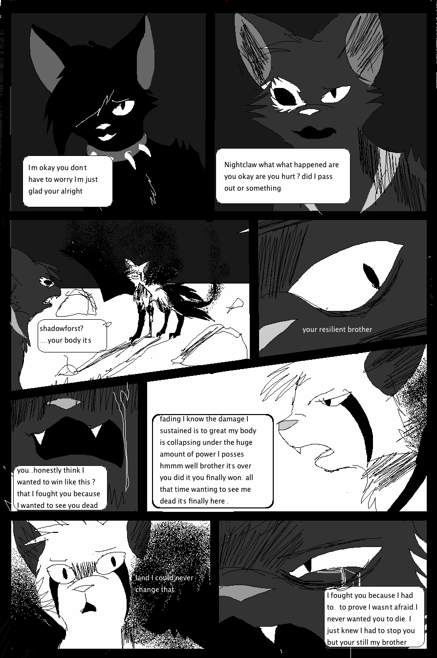 Shadow claw vs Shadow frost finale manga page 32 by ShadowClawZ
