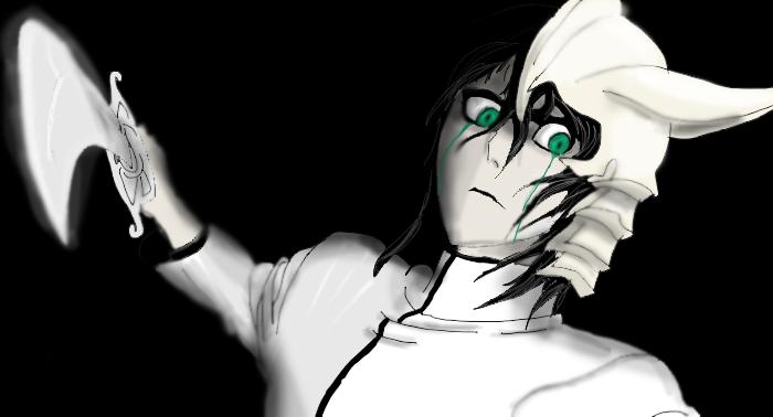 Ulquiorra  eyes of a demon by ShadowClawZ