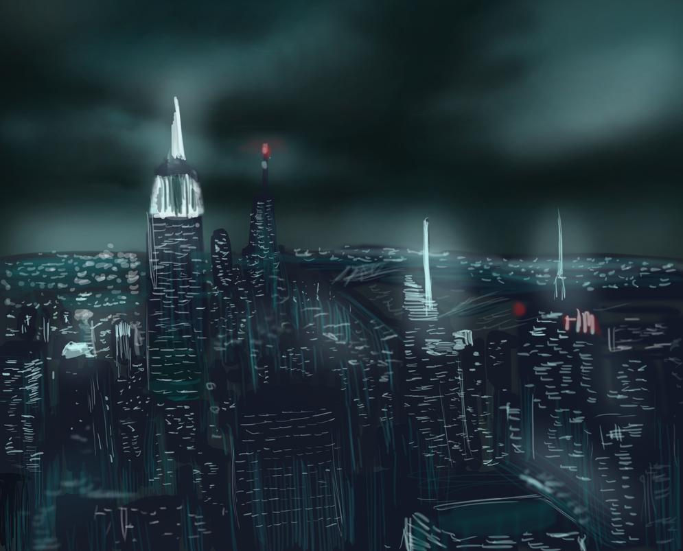 Manhattan skyline by ShadowClawZ