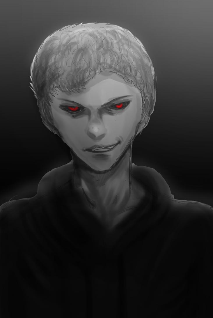 OC Dark realism portrait [recolor] by ShadowClawZ