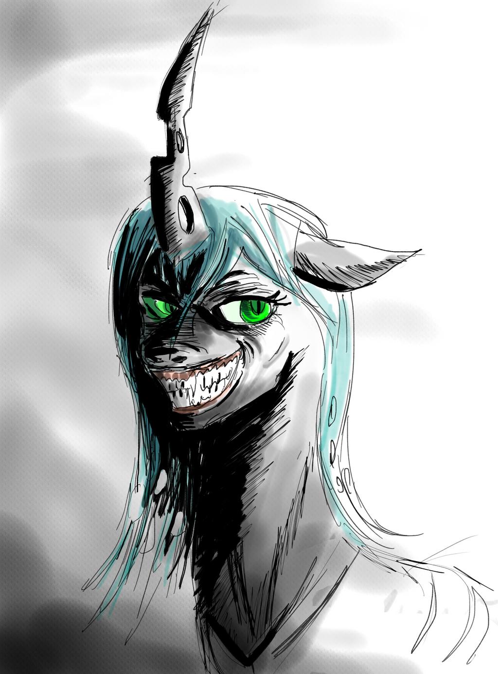 Queen Chyrsalis *sketch* by ShadowClawZ