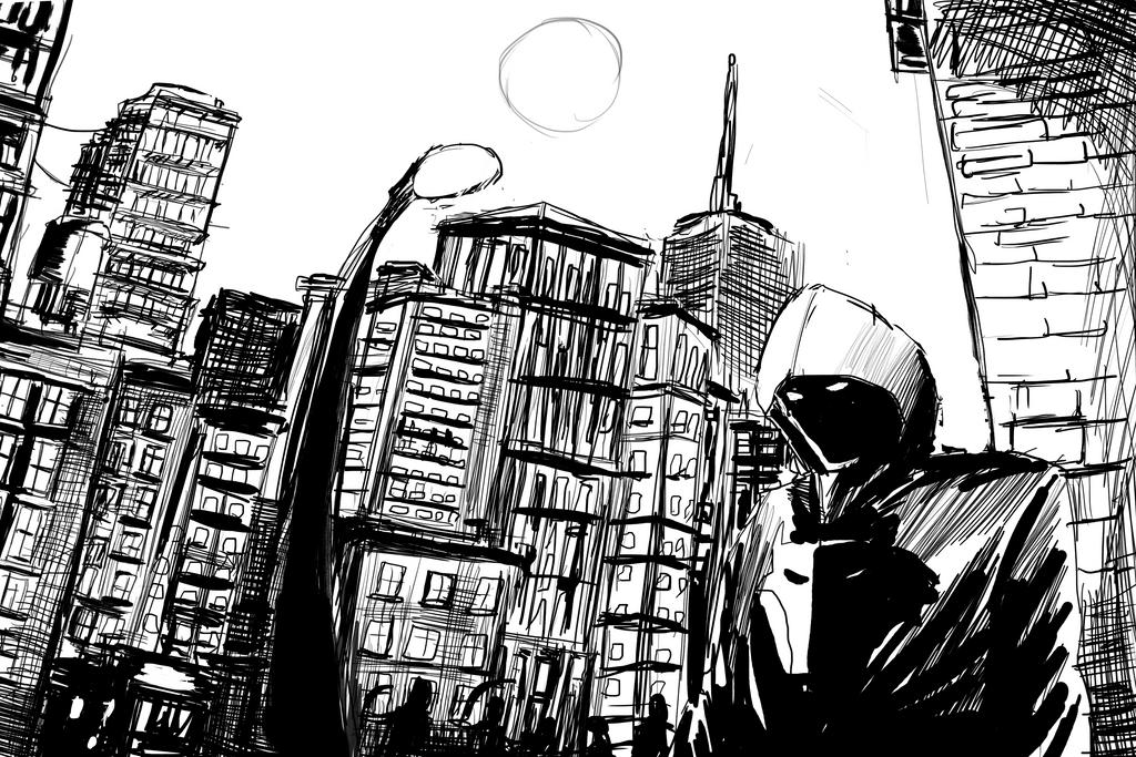 City *sketch* by ShadowClawZ