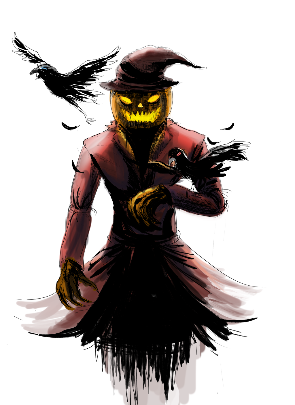 Scarecrow Manically *colored* by ShadowClawZ