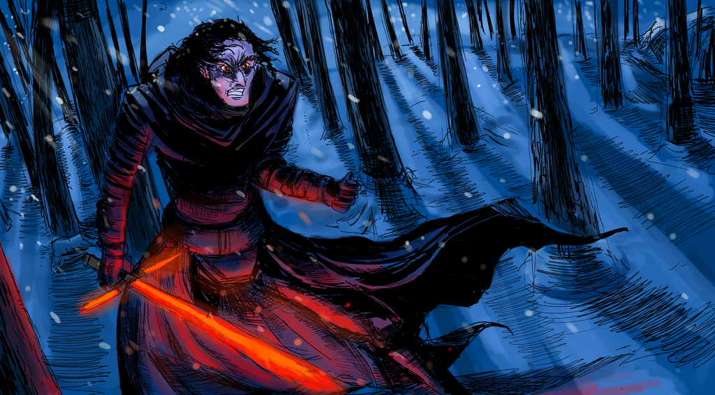Kylo Ren Illustration by ShadowClawZ