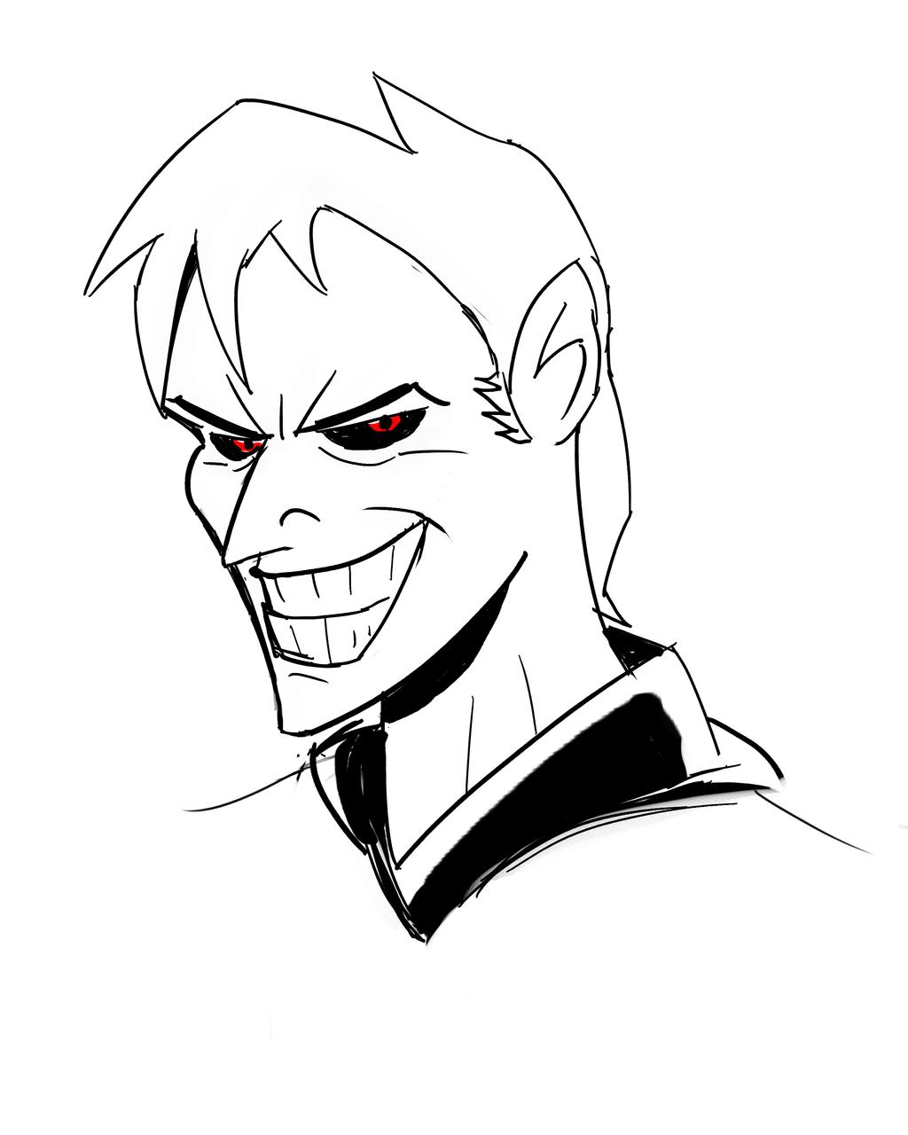 Dark Bruce Timm Style *doodle* by ShadowClawZ