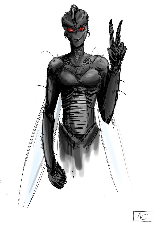 Flygirl *sketch* by ShadowClawZ