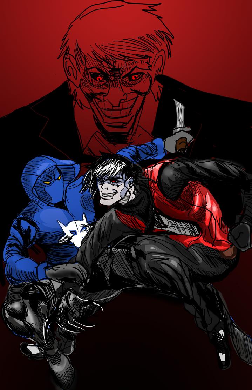 Wolf vs Nightcrawler [Illustration] by ShadowClawZ