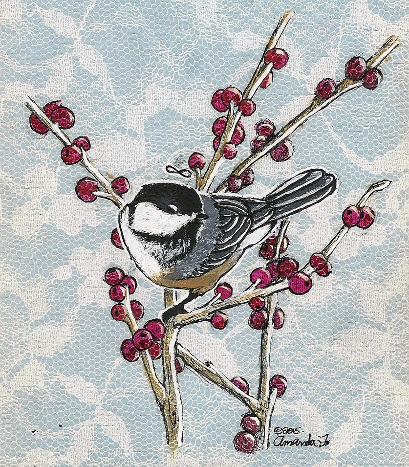 Birb on a Branch by Tea-Tigress