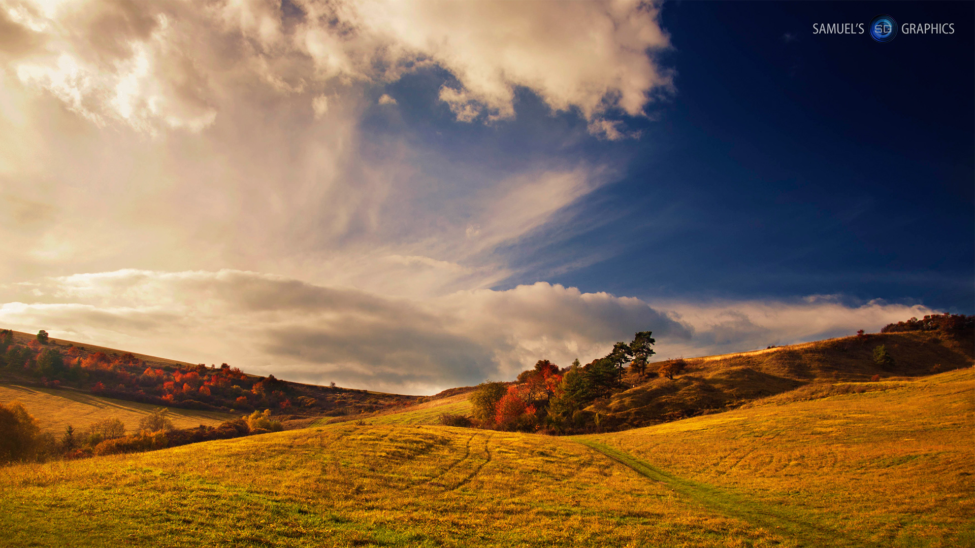 meadow fall landscape hd wallpaper by samuels graphics on
