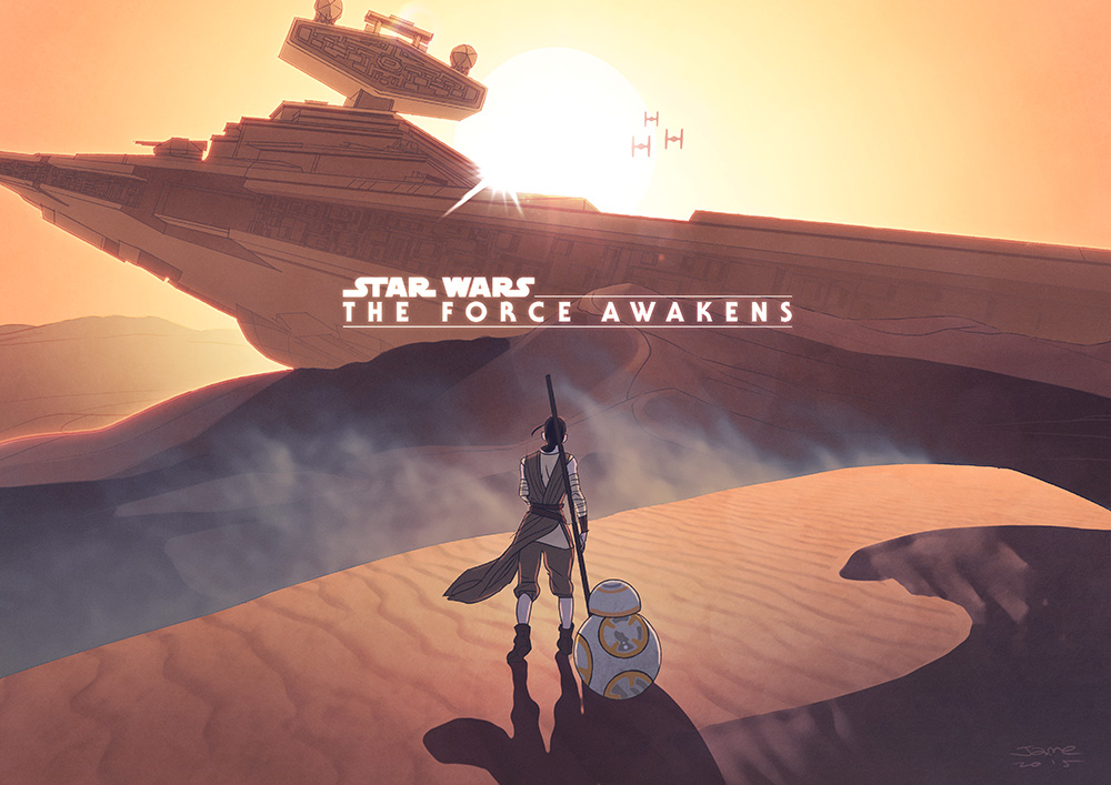 Star Wars: The force awakens by JaimePosadas