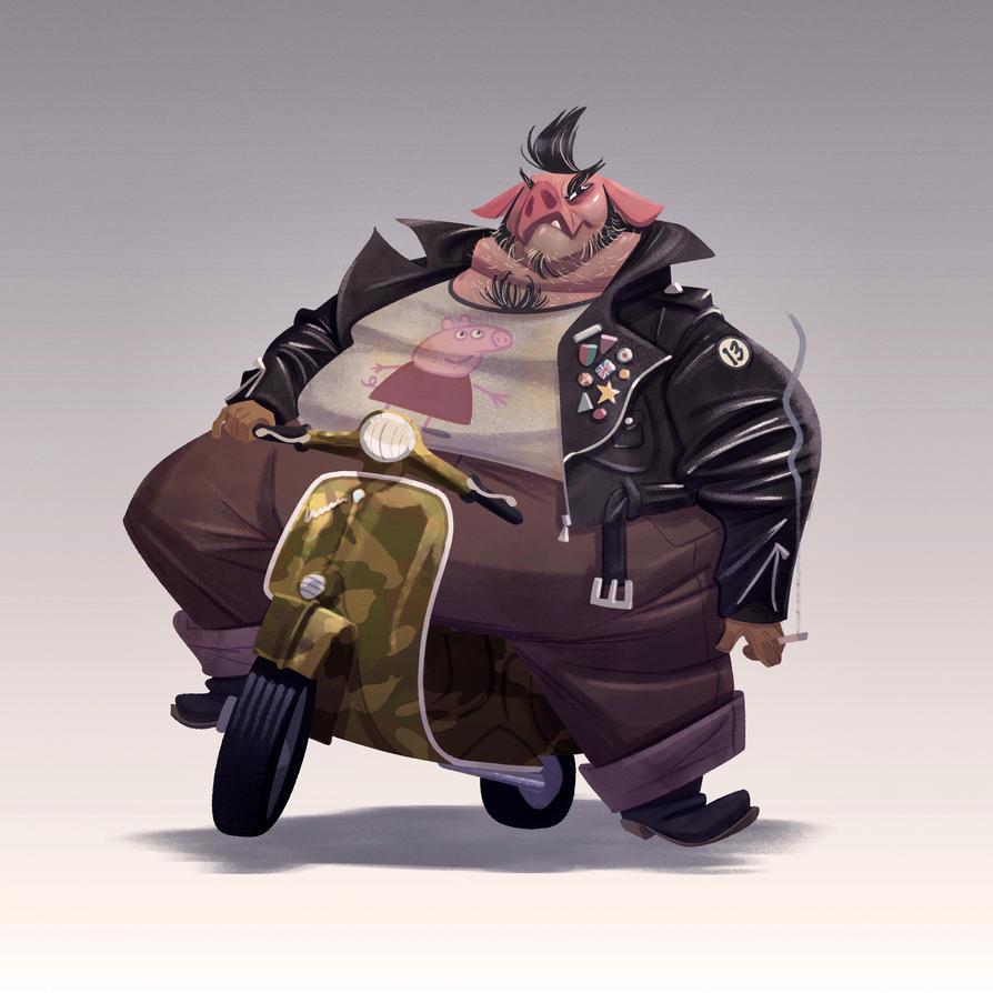 Motor Pig by JaimePosadas