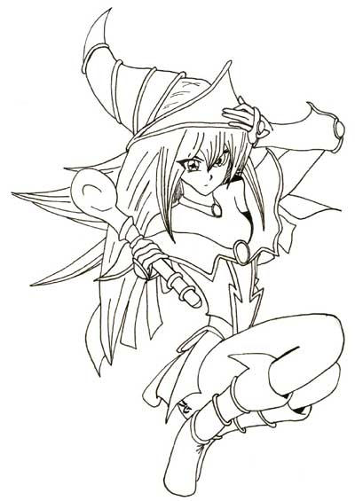 dark magician girl coloring pages - photo#8
