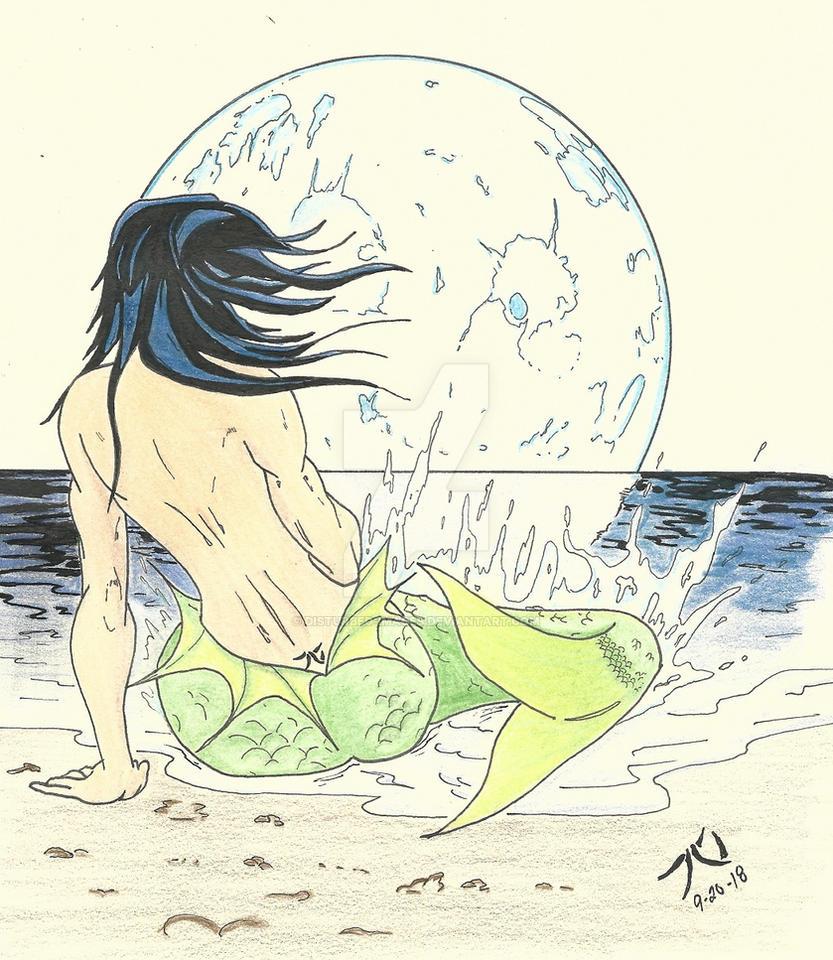 Moonlit Mermaid by Disturbed-Images