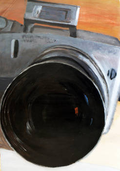 Camera, Acrylic Painting