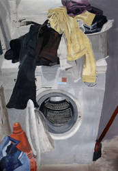 The endless laundry, Acrylic Painting