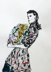 Laundry, Ink sketch by Ruthygi