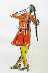 Tired, Ink sketch by Ruthygi