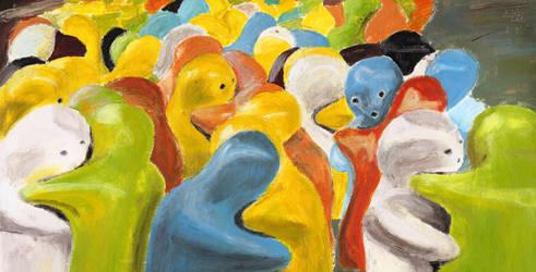 Hugs, Acrylic Painting by Ruthygi