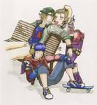Punked out Link Zelda Marth by LilithOya