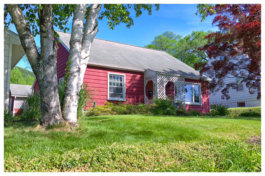 Red cottage by evinrude2014 on deviantart for Red cottage