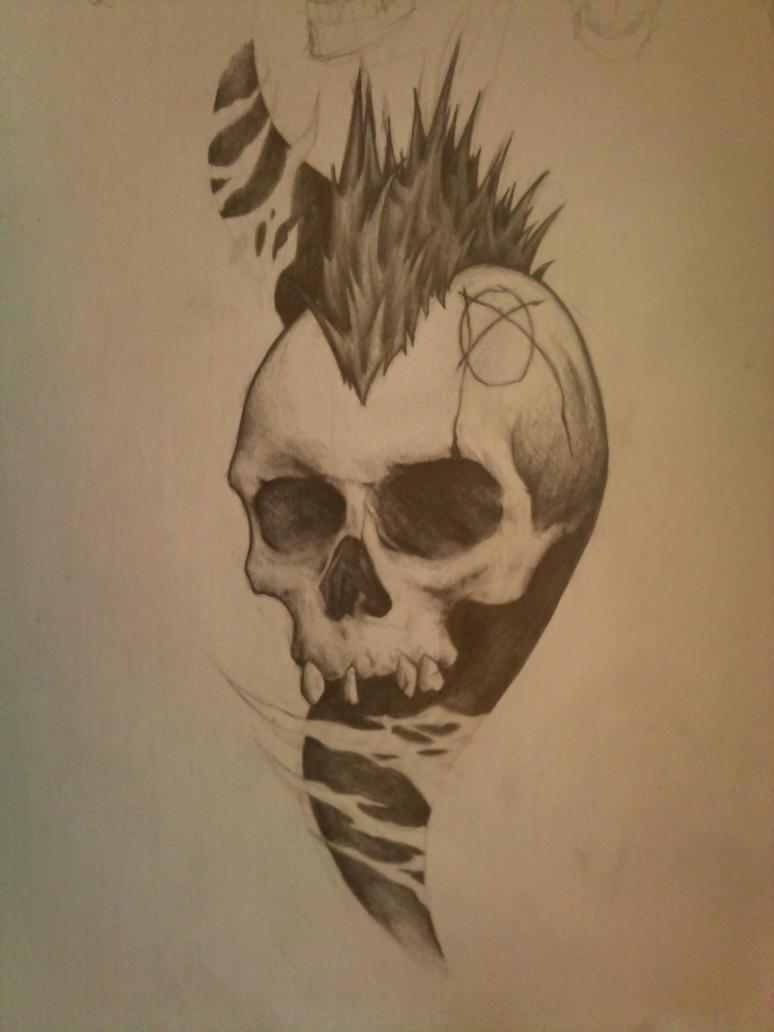 Mohawk Skull by Sickpuddle on DeviantArt