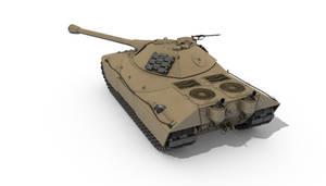 German WW2 1946 tank 'Tiger 3' Back