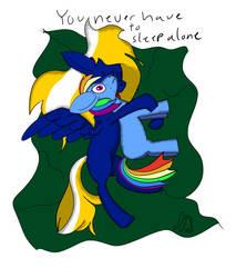 Rainbow Dash Plushie Snuggles by NightSkythePegasi